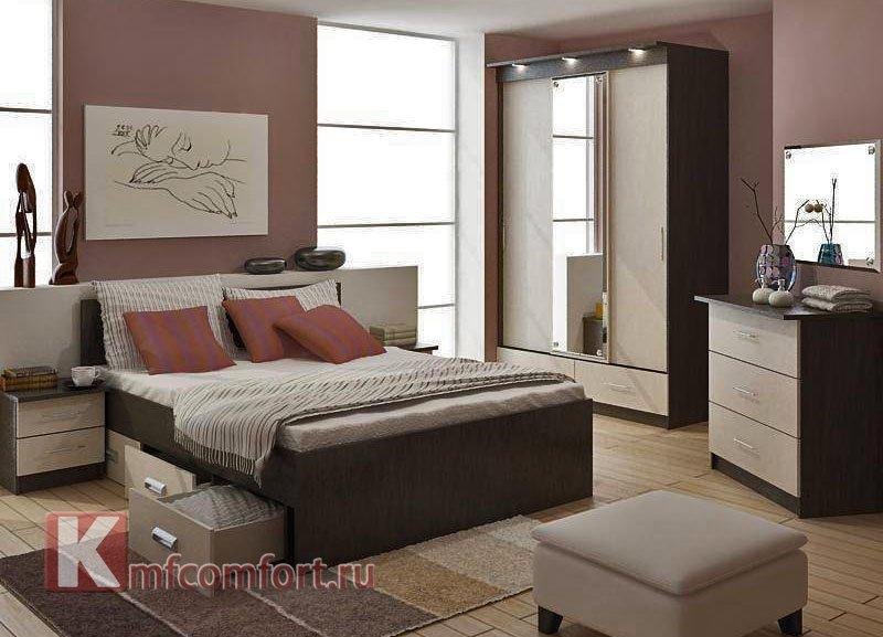 спальня изготовлена из